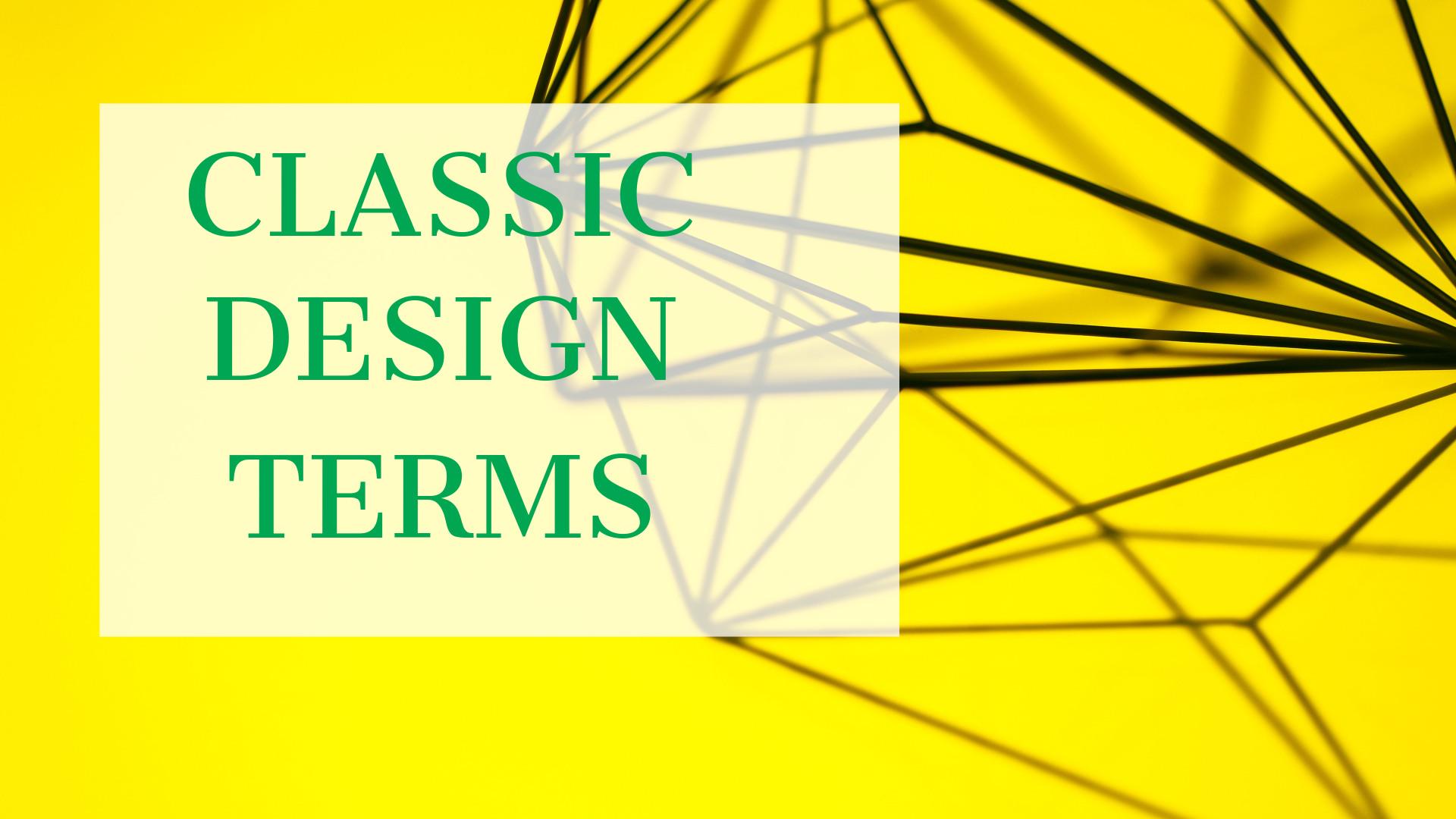 CLASSIC DESIGN TERMS-WEB DESIGN AGENCY DELHI